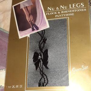 Nu & Nu Queen Size Rhinestone Panty Hose